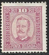 Ponta Delgada – 1892 King Carlos 10 Réis - Ponta Delgada