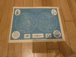 PLANISPHERE CELESTE  PAR DRIOUX ET LEROY EUGENE BELIN 1864 33,5cm/25,5cm - Carte Geographique