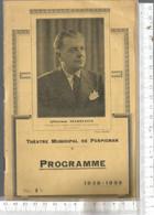 PG / Vintage // Rare  PROGRAMME THEATRE DE PERPIGNAN @@ Carmen @@rare Pub SUZE // BIBENDUM MICHELIN PNEU - Programmes