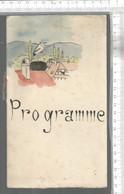PG / Vintage //   PROGRAMME SOIREE DE GALA AU PROFIT DE LA CROIX ROUGE 1929 @@ COCARDE MIMI PINSON // ALSACE CIGOGNE - Programmes