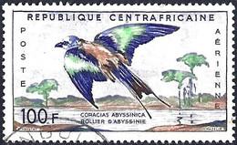 Central African Republic 1960 - Mi 12 - YT A1 ( Bird : Abyssinian Roller ) - Zangvogels