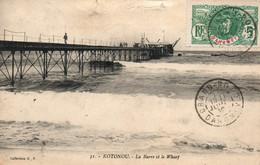 Kotonou (Cotonou, Dahomey) La Barre Et Le Wharf - Collection G.P. Carte N° 31 - Dahomey