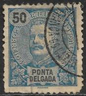 Ponta Delgada – 1897 King Carlos 50 Réis VILA FRANCA DO CAMPO Cancel - Ponta Delgada