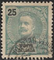 Ponta Delgada – 1897 King Carlos 25 Réis - Ponta Delgada