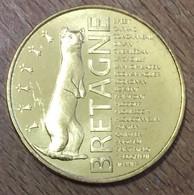 BRETAGNE HERMINE MINI MÉDAILLE SOUVENIR MONNAIE DE PARIS 2018 JETON TOURISTIQUE MEDALS TOKENS COINS - 2018