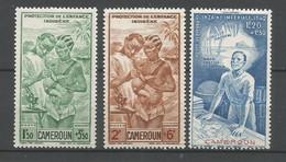 Timbre Colonie Francaises Cameroun En Neuf * P-a N 19/21 - Airmail
