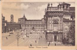 Torino - Piazza Castello - Animata - Auto Epoca - 1952 - Italy