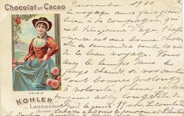Chocolat Et Cacao  Kohler Lausanne Suisse Precurseur 1900 Geneve - Pubblicitari