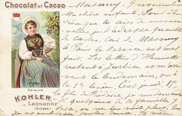 Chocolat Et Cacao  Kohler Lausanne Suisse Precurseur 1900 Soleure - Pubblicitari