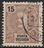Ponta Delgada – 1897 King Carlos 15 Réis - Ponta Delgada