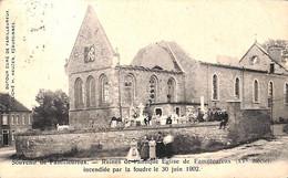 Familleureux - Ruines De L'Eglise Incendiée Par La Foudre 1902 (belle Animation) - Seneffe