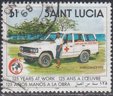 St Lucia, Scott #948, Used, Ambulance, Issued 1989 - St.Lucia (1979-...)
