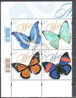 Poland 2020 Butterflies - Block Of 4 - Mi.5239-42 - Used - Gebruikt