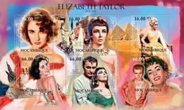 MOZAMBIQUE 2012 SHEET ELIZABETH TAYLOR CINEMA ACTRESSES CINE ACTRICES Moz12104a - Mozambique