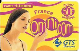 CARTE-PREPAYEE-OMNICOM-GTS-50F-FEMME-FRANCE-06/02/2002-Tirage 100200Ex-GRATTE-TBE - Prepaid-Telefonkarten: Andere