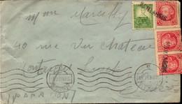 Lettre, Espagne, Albacete, Censure Pour La France Montargis ( Griffe )    (bon Etat) - 1931-50 Briefe U. Dokumente