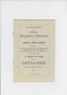 Ville De Gant / Gent - Exposition Nationale De Chèvres & Brebis Laitières - Catalogue - 1903 - Programmes