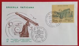 VATICANO VATIKAN VATICAN 1984 SPECOLA OBSERVATORY VATICANA FDC - Non Classés