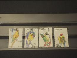 ZAMBIA - 1992 UCCELLI 4 VALORI - NUOVI(++) - Zambie (1965-...)