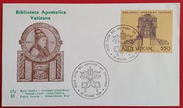 VATICANO VATIKAN VATICAN 1984 BIBLIOTECA APOSTOLICA VATICANA LIBRARY FDC - Non Classés