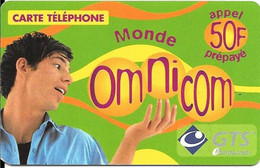 CARTE-PREPAYEE-50F-OMNICOM-MONDE-HOMME-30/04/2002-GRATTEE-TBE - Prepaid-Telefonkarten: Andere