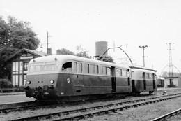 Voies Ferrées Des Landes. Labouheyre. Autorail De Dion-Bouton N° A1, Type OR-1939. Cliché Jacques Bazin. 31-08-1956 - Treinen
