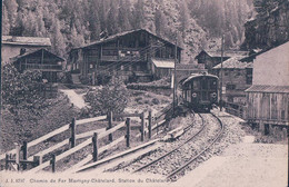 Le Chatelard VS, Chemin De Fer Martigny - Châtelard, Train Et Gare Du Chatelard (JJ 8797) - VS Wallis