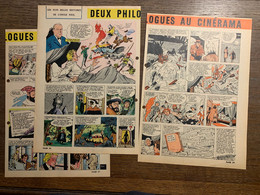 HISTOIRE ILLUSTREE 2 DEUX PHILOLOGUES AU CINERAMA CONTES DE GRIMM PRESENCE DE TROUS - Vecchi Documenti