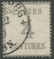 NDP 3IIa O, 1870, 4 C. Lilagrau, Spitzen Nach Unten, Leichte Zahnmängel Sonst Pracht, Mi. 120.- - Conf. De L' All. Du Nord