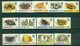 SWAZILAND 1987 Mi 515-27** Butterflies [DP923] - Butterflies