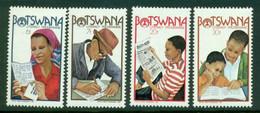 BOTSWANA 1981 Mi 273-76** Literacy Programme [DP960] - Languages