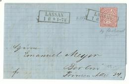 NDP Ka2 Lassan Auf Brief 1871 Nach Berlin - Conf. De L' All. Du Nord