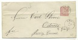 NDP EKS Barth Auf Brief 1869 Nach Osterode A. Harz - Conf. De L' All. Du Nord