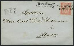 FINNLAND 4Ax BRIEF, 1863, 10 K. Rosakarmin Auf Rosa, Praktisch Alle Zungen, Seltener R2 NYCARLEBY (R5!) Und Federzug Auf - 1856-1917 Russische Verwaltung