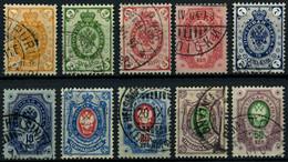 FINNLAND 35-44 O, 1891, 1 - 50 K. Staatswappen, 10 Prachtwerte, Mi. 178.50 - 1856-1917 Russische Verwaltung