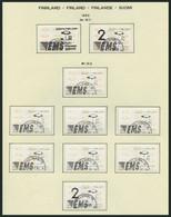 FINNLAND A 12 O, Automatenmarken: 1992, 89 Verschiedene Werte, Fast Nur Komplette Ausgaben, Pracht, Mi. 550.- - 1856-1917 Russische Verwaltung