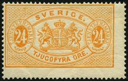 DIENSTMARKEN D 8Aa *, 1874, 24 Ö. Orange, Gezähnt 14, Falzreste, Leicht Dezentriert, Pracht, Mi. 900.- - Service