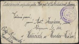 TSCHECHOSLOWAKEI 1920, Später Feldpostbrief Aus Wladiwostok Mit Violettem K3 Des Tschechoslowakischen General-Konsulats  - Covers & Documents