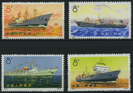 CHINA - VOLKSREPUBLIK 1113-16 (*), 1972, Handelsschiffe Der Volksrepublik China, Wie Verausgabt Ohne Gummi, Prachtsatz,  - Neufs
