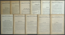 PHIL. LITERATUR Reflextionen über Philatelie, 11 Verschiedene Briefe Aus Nr. 74 - 124, 1945-1950, Müller-Mark, Mit Viele - Philatelie Und Postgeschichte