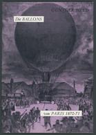 PHIL. LITERATUR Die Ballons Von Paris 1870-71, 1970, Gunther Heyd, 55 Seiten, Mit Einigen Abbildungen - Philatelie Und Postgeschichte