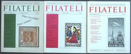 PHIL. LITERATUR Filateli - Kvartalsmagasin For Skandinaviske Samlere, Heft Nr. 2-4, 1970, Mit Vielen Abbildungen, In Dän - Philatelie Und Postgeschichte