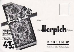 AK Werbung Firma Herpich Berlin - Perser-Kopien Teppiche - Ca. 1920 (52255) - Pubblicitari