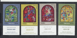 ISRAEL 1973 - VITRAUX DE MARC CHAGALL - CPL. SETWITH TAB  - 3 SCANS - MNH MINT NEUF NUEVO - BEAUTIFUL - Vetri & Vetrate