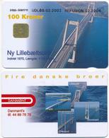 Denmark Exp. 02.2003 / New Lillebælt Bridge / Danmønt 100 Kroner - Used - Dänemark