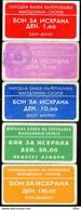 Makedonija,cca. 2000,Mazedonien,Macedonia,Macedoine,National Bank Of Macedonia,lot Of 5 Rar Bons, As Scan - Macedonia