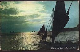 Argentina - Carte Postale - Circa 1920 - Mar Del Plata - Veleros - Efecto De Luz - Lago - Non Circulé - A1RR2 - Argentina