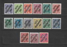 Czechoslovakia 1919 MNH ** Mi 40-50, 63-66 Sc B1-B3, B5-B16 Austrian Stamps. POSTA CESKOSLOVENSKA - Czechoslovakia