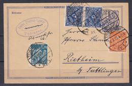 Deutsches Reich - 1923 - Poskarte - Tübingen/Rietheim - Usados