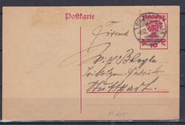 Deutsches Reich - 1919 - Poskarte - Sulzbach - Used Stamps